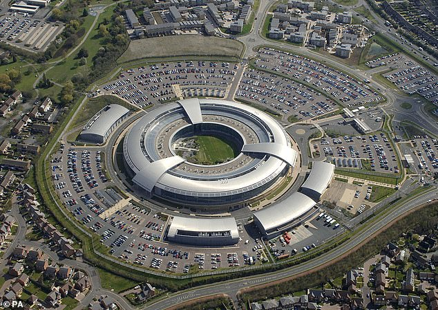 Spooks at GCHQ (pictured, the headquarters in Cheltenham) have exposed a terror group that was masquerading as Iranian crooks